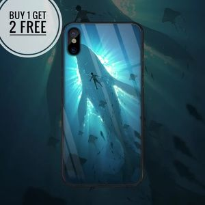 Deep Sea Tempered Glass iPhone Phone Case
